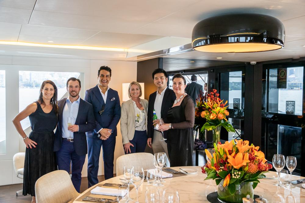 The Luxury Network Australia Member Superyacht Sahana Host a day on Sydney Harbour